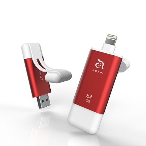 Adam Elements iFlashDrive 64GB iKlips II pre iPhone/iPad - Red