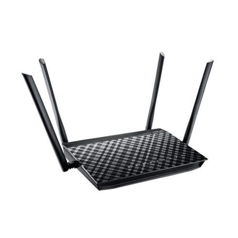 ASUS RT-AC1200G+ Dual-Band Wireless Gigabit Router, 802.11ac, 802.11n, 1xGbE WAN, 4xGbE LAN, 1x USB2.0, 4x exter.antenna