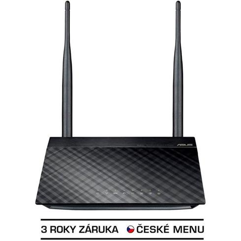 ASUS RT-N12_D1 Wireless Router, 802.11n, 1xFastEth WAN, 4xFastEth LAN, 2x exter.detach 5dBi antenna