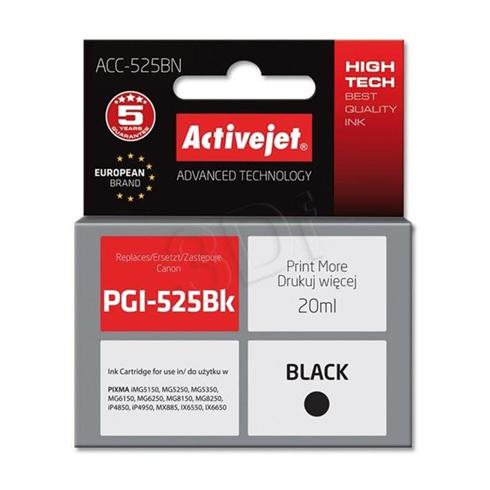Atrament ActiveJet pre Canon PGI-525Bk Black 20ml s chipom