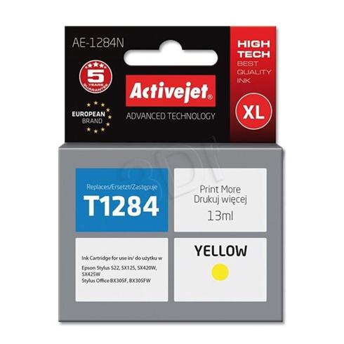 Atrament ActiveJet pre Epson T1284 Yellow 13 ml