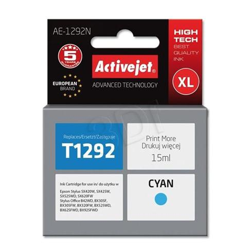 Atrament ActiveJet pre Epson T1292 Cyan 15 ml