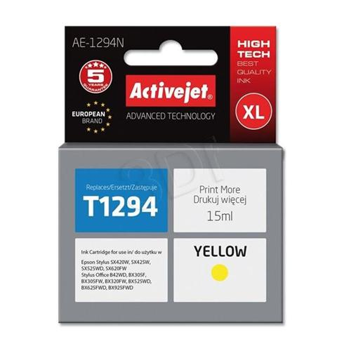 Atrament ActiveJet pre Epson T1294 Yellow 15 ml
