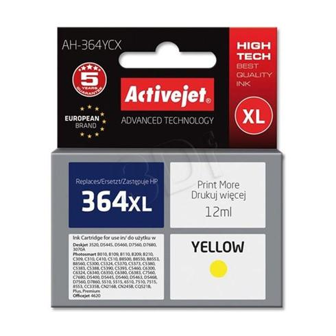 Atrament ActiveJet pre HP CB325 (no.364XL) Yellow