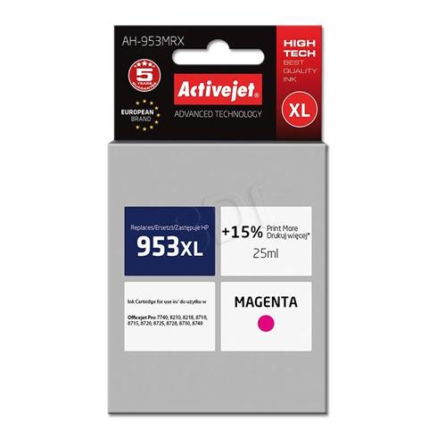 Atrament ActiveJet pre HP F6U17AE (no.953XL) AH-953MRX Magenta 25ml
