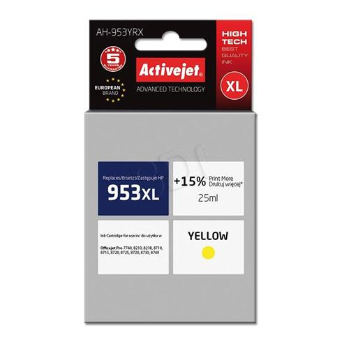 Atrament ActiveJet pre HP F6U18AE (no.953XL) AH-953YRX Yellow 25ml