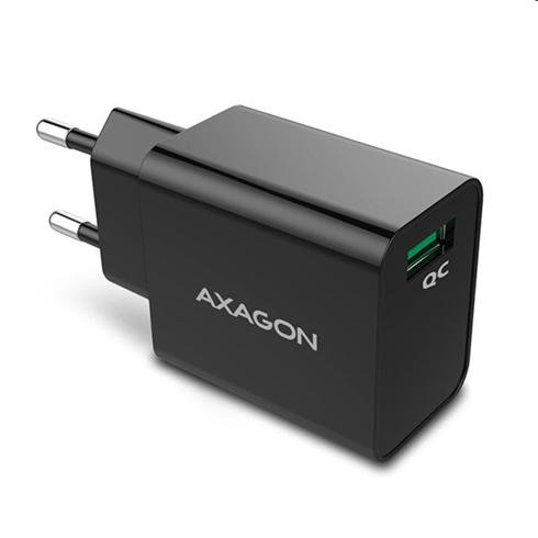 AXAGON ACU-QC, wall charger 1x QC 3.0, 18W, black