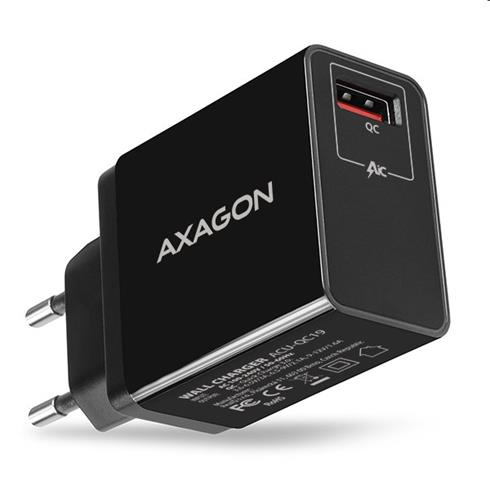 AXAGON ACU-QC19 wall charger 1x QC3.0/AFC/FCP/SMART, 19W, black