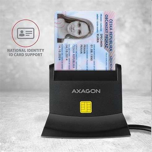 AXAGON CRE-SM2 USB Smart Card & SD/microSD/SIM card reader