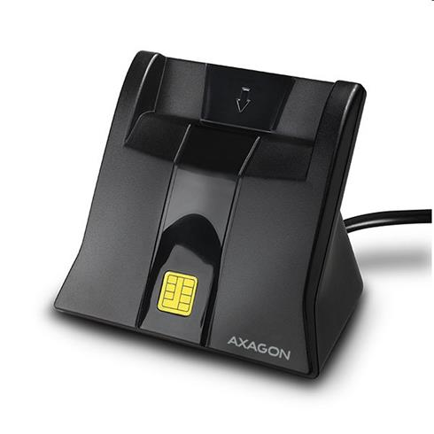 AXAGON CRE-SM4 USB Smart card StandReader, 1.2m cable