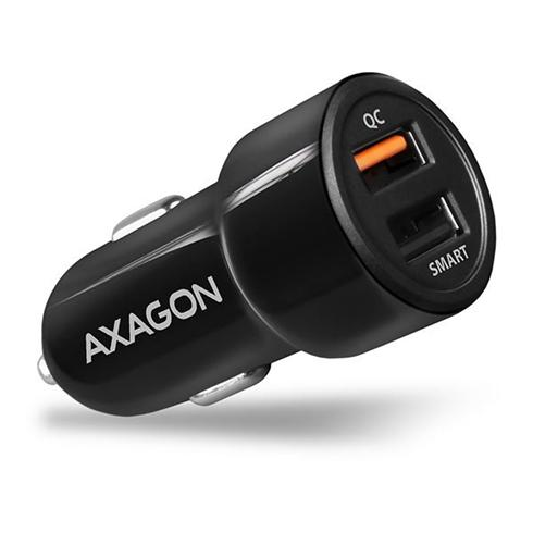 AXAGON PWC-QC5 car charger Smart 5V 2,4A + QC3.0, 30W, black