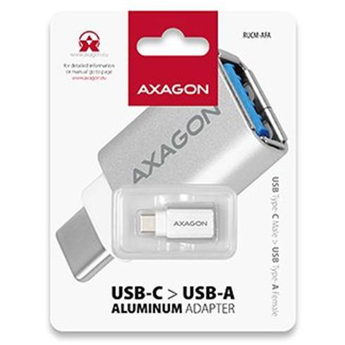 AXAGON RUCM-AFA USB 3.0 Type-C Male > Type-A Female ALU