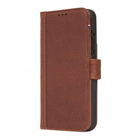 Decoded puzdro Leather Card Wallet Case pre iPhone XR - Brown