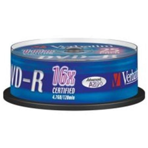 DVD-R VERBATIM 4,7GB 16 X 25ks/Cake box