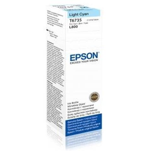 EPSON ink bar T6735 Light Cyan ink container 70ml pro L800/L1800
