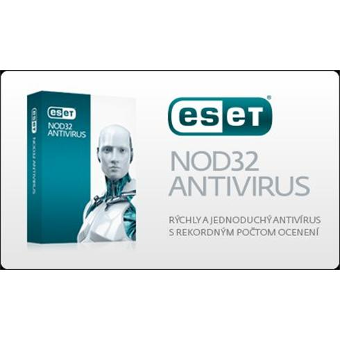 ESET NOD32 Antivirus ;   2 PC - update na 1 rok