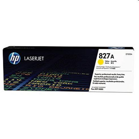 HP 827A Yellow LJ Toner Cart, CF302A
