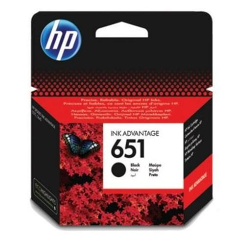 HP originál ink C2P10AE, HP 651, black, 600str., HP DeskJet IA 5645, 5575, Officejet 202, 252 Mobile