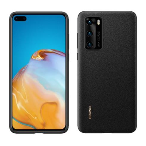 Huawei Leather case P40 Cierny