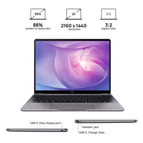 HUAWEI MateBook 13 AMD - R5/8G/512G/US Layout/Windows Home Sedy