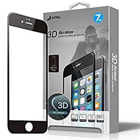 JCPAL Armor 3D Glass Screen Protector ( 0.26mm; Black)for iPhone 7