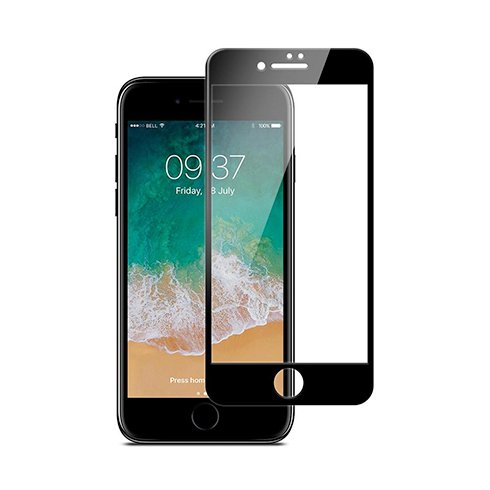 JCPAL Armor 3D Glass Screen Protector ( 0.26mm; Black) for iPhone8 Plus