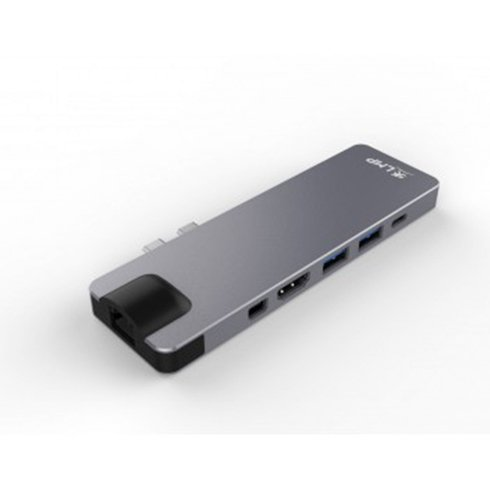 LMP USB-C Compact Dock 8 port - Space Gray Aluminium