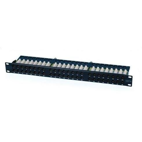"OXnet 19"" patch panel 48port Cat6, UTP, blok UNI 110, vyväz. lišta, 1U,čierny"