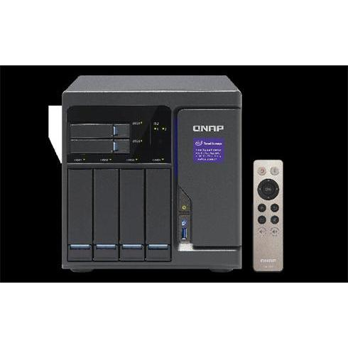 QNAP NAS TVS-682-I3-8G Intel® Core™ i3-6100 3.7 GHz Dual core processor 8GB DDR4 (Max. 32GB) 6HDD 4 GigaLan, 10G-ready Tower