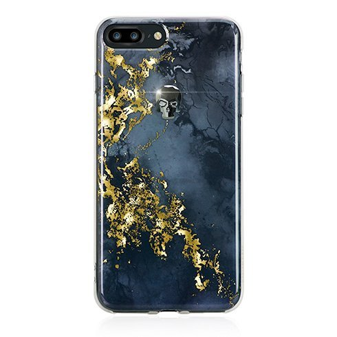Swarovski kryt Treasure pre iPhone 8 Plus - Onyx/Hematite Skull