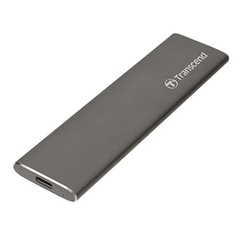 Transcend SSD 960GB ESD250C USB 3.1 Gen 2 - Space Gray Aluminium