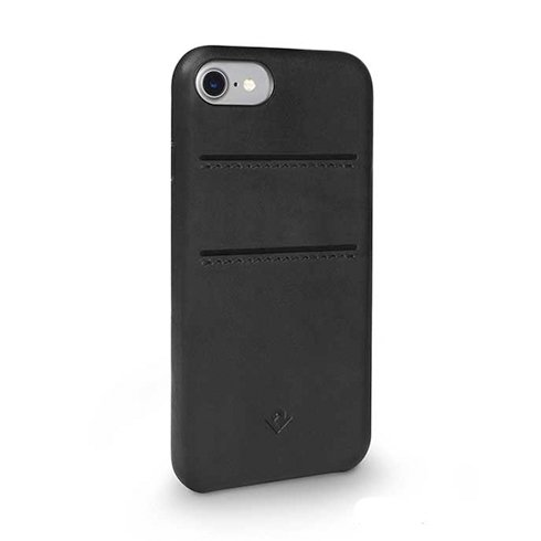 TwelveSouth kryt Relaxed Leather with pockets pre iPhone 7/8 - Black