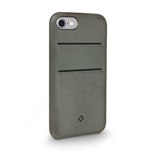 TwelveSouth kryt Relaxed Leather with pockets pre iPhone 7/8 - Dried Herb
