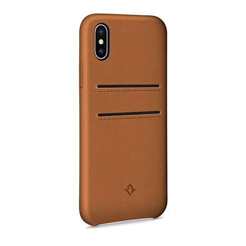 TwelveSouth kryt Relaxed Leather with pockets pre iPhone X/XS - Cognac