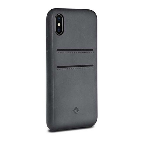 TwelveSouth kryt Relaxed Leather with pockets pre iPhone X/XS - Earl Grey