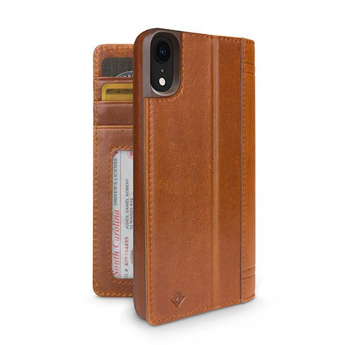 TwelveSouth púzdro Journal pre iPhone XR - Cognac