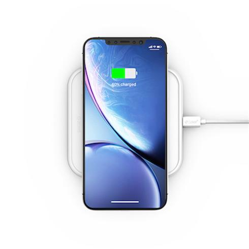 ZENS Aluminium Single Wireless Charger 10W - White